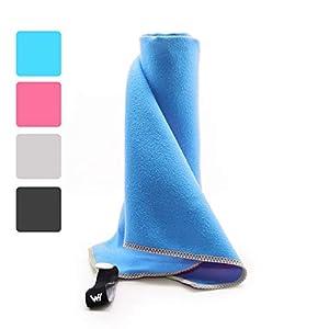 WHCREAT Mikrofaser Handtücher Ultra Saugfähig Schnelltrocknend Sporthandtuch Strandhandtuch Reisehandtuch für Reisen…