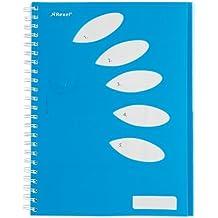 Rexel Bloc de notas Joy 5 temas 250 páginas A4 azul - Cuaderno (240 mm, 20 mm, 295 mm)