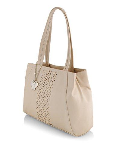 Butterflies Women's Handbag (Cream) (BNS 0586CRM)