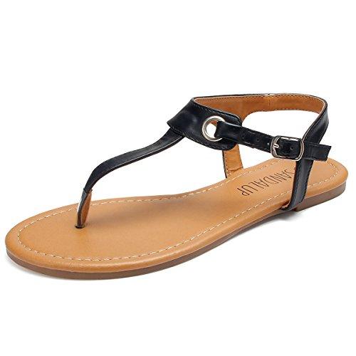 e3c3a8df0 SANDALUP Women s Claire Thong Sandal Black Size 07