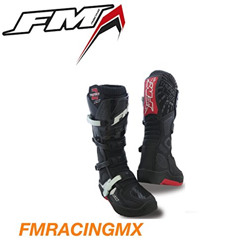 Stivali Moto Cross Fm racing st//007//th Nero//Bianco
