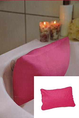 dewannenkissen Wannenkissen Nackenkissen mit praktischen Saugnäpfen in PINK / ROSA - eine schöne Geschenk - Idee (Grad Geschenk-ideen)