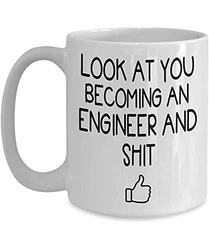 Engineering Graduation Coffee Mug - Geschenkidee für Ingenieur Student Graduate School ihn ihre Männer Frauen Tee Tasse Muttertag Vatertag 11 oz