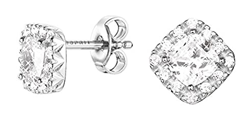 Esprit Damen-Ohrstecker JW50526 925 Silber rhodiniert Zirkonia weiß Rundschliff - ESER92549A000