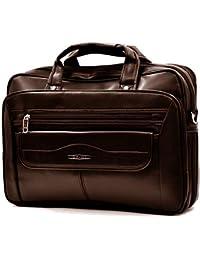 d25a46f683 tracolla uomo borsa Leo&Co VINTAGE MADE ITALY pelle grande elegante marrone  nera passeggio lavoro ufficio dottore