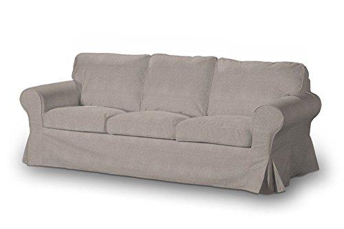 Dekoria 633 705 09 rivestimento per divano ektorp a 3 posti etna beige grigio catalogo - Rivestimento divano ikea ...