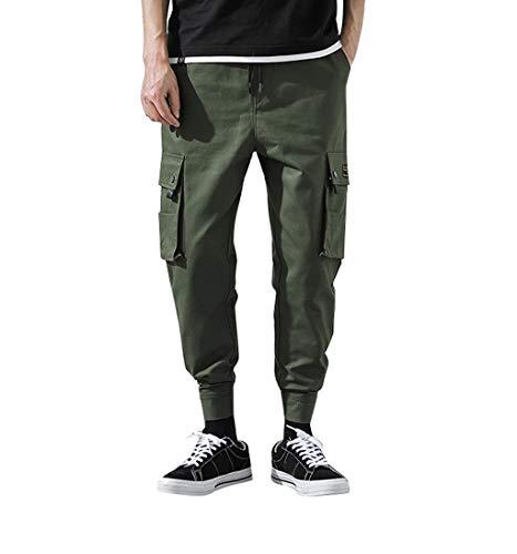 Hosen Shorts Freizeithosen Strumpfhosen Herren Casual Pure Color Sommer New Style Fashion Overalls Bequeme Hosen Armeegrün L -