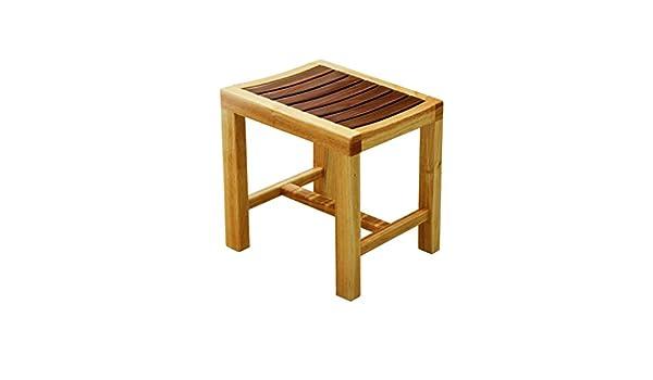Lrzlzy sgabello in legno massello seduta antiscivolo per doccia