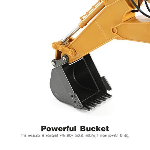 RC Auto kaufen Baufahrzeug Bild 4: HUINA 1550 1/14 2.4G 15CH RC Legierung Bagger LKW Baufahrzeug Spielzeug*