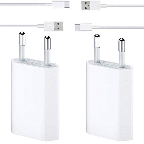 Preisvergleich Produktbild Original Lanboo® Ladeset Für ZTE Axon 7 mini - 2x Netzteil Ladegerät Charger Adapter + 2x Universal Micro USB TYP C Ladekabel Datenkabel Sync Datenaustausch Kabel