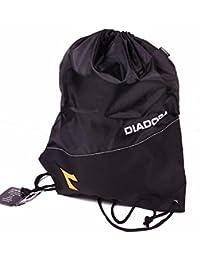 DIADORA Sac à dos avec cordon Noir et Jaune LU048 f649f4509f8