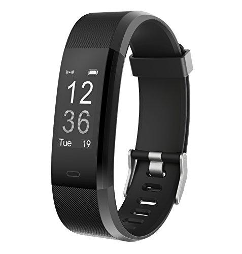 Muzili Fitness Tracker YG3 Plus Sport Fitness Armband Laufen Wristband Fitness Band Schrittzähler mit Herzfrequenz Monitor/Schrittzähler/Schlafmonitor Tracker für iPhone und Android Phone (Schwarz)
