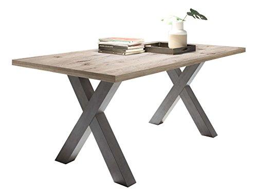 Avanti trendstore - mystic - tavolo allungabile in grafite / quercia sabbia d'imitazione, ca. 160/210x77x90 cm
