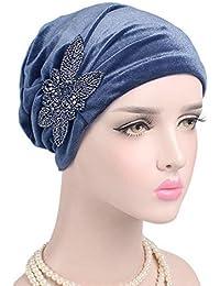 Jaminy 2017 FASHION Women Cancer Chemo Hat Beanie Scarf Turban Head Wrap Cap  Scarf Chemo Hat 7c955090bab2