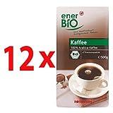 enerBiO Bio Kaffee Kaffee 500 g, 12er Pack(12x500 g)