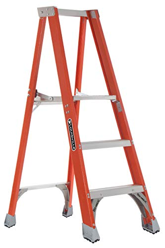 Louisville Escalera Fibra de vidrio escalera plataforma, 3-Feet, índice de trabajo 300-Pound