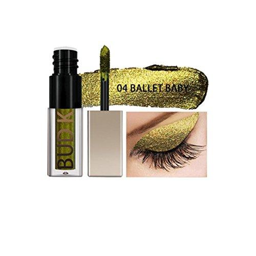 Palette de Fard à Paupière Waterproof Durable mode Makeup Palette Stylo d'ombre à paupières,PowerFul-LOT Eyeliner Liquide Noir ImperméAble à L'Eau Stylo Eye Liner Crayon Ombre à Paupières Maquillage (04#)