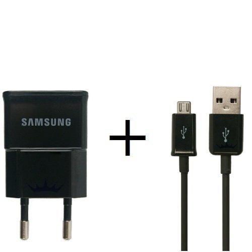 Samsung 1 Ampere Ladegerät  ETA0U81EBE plus Ladekabel ECB-DU5ABE in Schwarz -