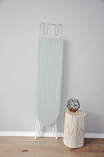 Bügelbrett Bügeltisch Bügelstation 110x30x90 cm Bügel Tisch Bügeleisenablage Höhenverstellbar (Türkis)