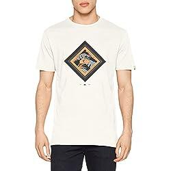 Quiksilver Classic Crimson Skyline Camiseta, Hombre, Blanco (Bright White-Solid), M
