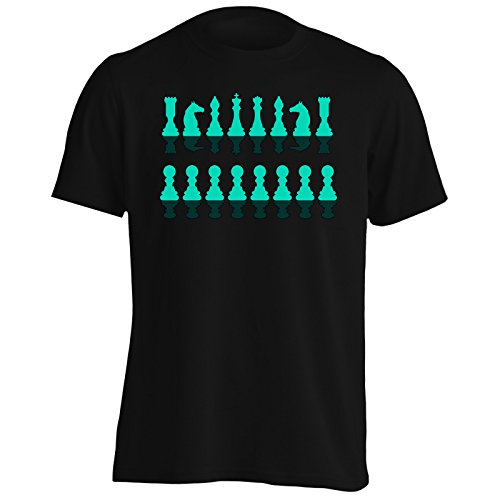 INNOGLEN Camiseta con Siluetas de Piezas De Ajedrez para Hombre