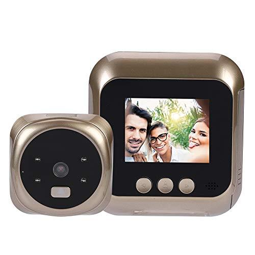 Sonnette vidéo sans Fil, visionneuse de Porte numérique, visionneuse de Judas avec écran LCD de 2,4 Pouces + caméra HD + Ange Large 135 ° + 6 sonneries + Vision Nocturne IR pour système sécurité