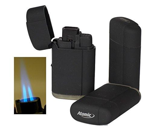 3 Stück Doppel - Jetflamme-Feuerzeug - Sturmfeuerzeug Torch inkl. Lifestyle-Ambiente Tastingbogen