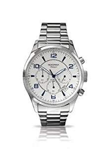 Sekonda Men's Quartz Watch with Silver Dial Chronograph Display and Silver Stainless Steel Bracelet 3376.71