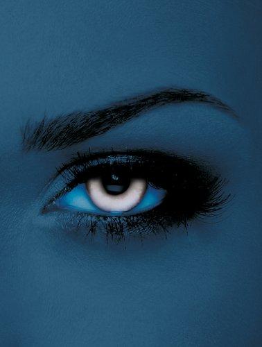 licht UV-Kontaktlinsen Weiß ohne Stärke für Halloween und Karneval (Halloween Weiss Kontakte)