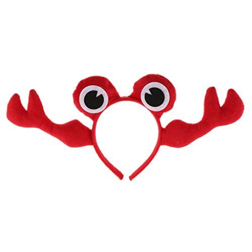 Alberne Kostüm - Sharplace Abendkleid Tier Krabbe Stirnband Haarschmuck Weihnachten Halloween Krabbe Zubehör - Rot, 11 cm