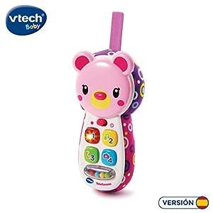 VTech- Teléfono Interactivo de Juguete para entretener y divertir al bebé, Color Rosa (3480-502757)