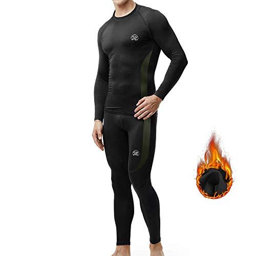MEETWEE Ensemble de sous-Vêtement Thermique Homme,Quick Dry Haut Maillot de Corps & Pantalon Bas pour Chasse Ski Running