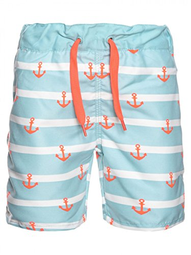 NAME IT Mini Jungen Badehose, Shorts Zesper mit Anker in Aqua Haze, Größe:80