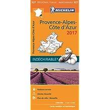 Carte Provence Alpes Cote d'Azur Michelin 2017
