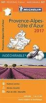 Carte Régionale 527 Provence Alpes Cote d'Azur 2017 par Michelin