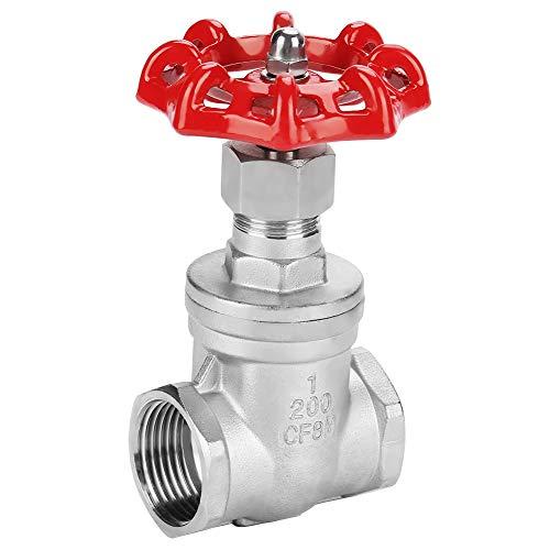 Schieber, Hilitand Edelstahl BSPP G1 Drehschieber DN25 Ventil für Wasser Öl Gas