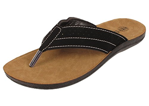 fairmont-simple-classic-mens-toe-post-casual-smart-fashion-sandal-uk-7-41-black