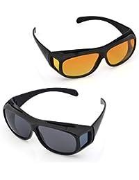 GaxQuly Day & Night HD Vision Goggles Anti-Glare Polarized Sunglasses Men/Women Driving Glasses Sun Glasses UV Protection
