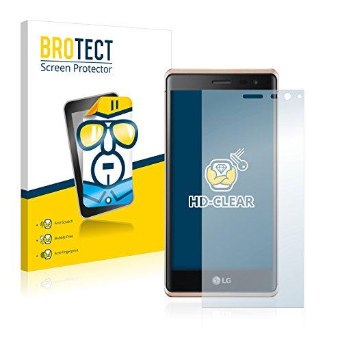 BROTECT für LG Zero Schutzfolie [2er Pack] - klare Displayschutzfolie, Crystal-Clear