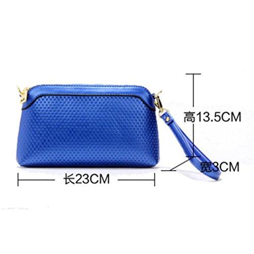 Neue Koreanische Version Der Kleinen Quadratischen Tasche Damen Umhängetasche,Beige Blue