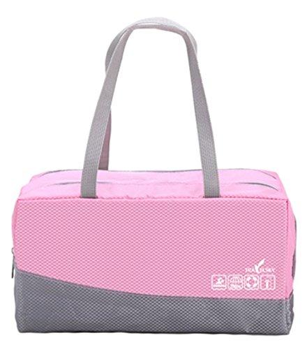JWBBU Wasserdichte Sporttasche Schwimmtasche Training Bag (Rosa)