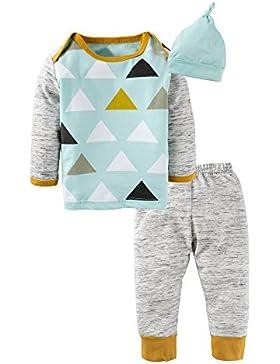 BIG ELEPHANT Baby Boys'oder Girls 'Graphic Langarm Hosen Kleidung Set mit Hut H94A