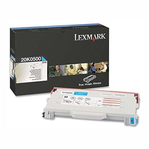 Lexmark C510 C510N C510Dtn 20K0500 Tonerkassette Kapazität 3000 Seiten, cyan (Toner Cyan 20k0500)