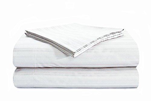 Natural Comfort PREMIER Hotel Select Spannbetttuch-Set, baumwolle, Tuxedo Stripe/White, Queen - Premier Queen Baumwolle