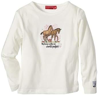 Salt & Pepper Sweatshirt  Col ras du cou Manches longues Fille - Beige - Beige (ecru) - FR : 4 ans (Taille fabricant : 104)