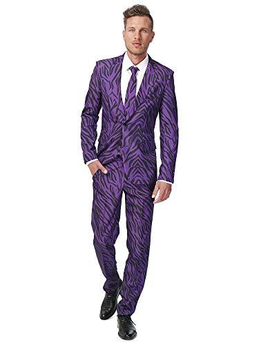 Generique - Violetter Tiger-Anzug Suitmaster für Herren XL