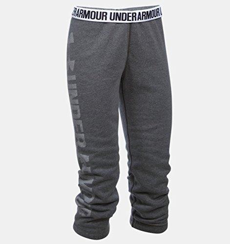 Under Armour Damen Fitness Hose Favorite Fleece Capri Hosen & Shorts, Carbon Heather, S -
