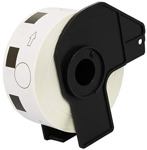 DK11218 24mm x 24mm Runde-Etiketten (1000 Stück/Rolle) kompatibel für Brother P-Touch QL-500 QL-550 QL-560 QL-570 QL-700 QL-710W QL-720NW QL-800 QL-810W QL-820NWB QL-1050 QL-1060N QL-1100 QL-1110NWB - Brother P-touch Ql 500