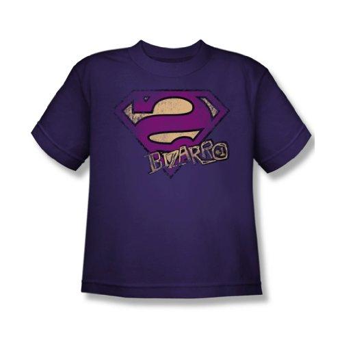 Superman - Bizzaro Logo Distressed Youth T-Shirt in Lila, X-Large, Purple