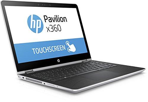 HP Pavilion x360 14 ba017ng 356 cm 14 Zoll Convertible Laptop Intel Pentium 4415U 256 GB SSD 8 GB RAM Intel HD Grafikkarte 610 Windows 10 residential 64 silber Notebooks